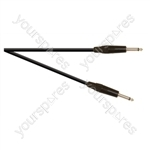 Professional 6.35 mm Mono Jack Plug to 6.35 mm Mono Jack Plug Speaker Lead With Neutrik Jacks and 2x 1.5mm Highflex Cable - Lead Length (m) 6