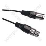 DMX 3 Pin XLR to 3 Pin XLR Lighting Lead - Length (m) 6