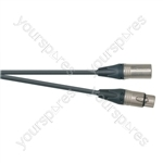 Professional 3 Pin XLR Patch Lead With Neutrik Connectors - Colour Black