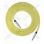 Professional 6.35 mm Mono Jack Plug 6.35 mm Mono Jack Plug Screened Patch Lead With Neutrik Connectors 1m - Colour Yellow