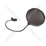 SoundLAB Black Pop Shield with Adjustable Clip
