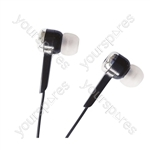 Isolation Digital Stereo Earphones - Colour Black
