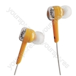 Isolation Digital Stereo Earphones - Colour Orange