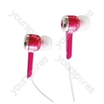Isolation Digital Stereo Earphones - Colour Pink