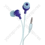 Bud Type Digital Stereo Earphones - Colour Pure Purple