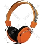 Street Style Coloured Digital Stereo Headphones - Colour Orange