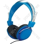 Street Style Coloured Digital Stereo Headphones - Colour Blue