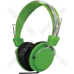 Street Style Coloured Digital Stereo Headphones - Colour Green