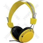 Street Style Coloured Digital Stereo Headphones - Colour Yellow