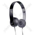 Slim Profile Folding Stereo Headphones - Colour Black