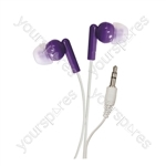 In-Ear Stereo Earphones - Colour Purple