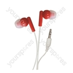In-Ear Stereo Earphones - Colour Red