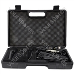 Soundlab Dynamic Premium Vocal Microphone Kit with 3 Microphones, Leads and Carry Case