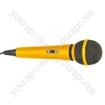 Dynamic Handheld Karaoke Microphone - Colour Yellow
