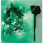 Eagle LED Solar Powered Outdoor String Lights 50 LED's 6m Length - Colour Green