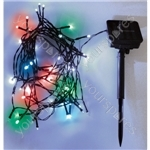 Eagle LED Solar Powered Outdoor String Lights 50 LED's 6m Length - Colour Multi