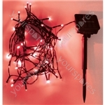 Eagle LED Solar Powered Outdoor String Lights 50 LED's 6m Length - Colour Red