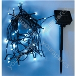 Eagle LED Solar Powered Outdoor String Lights 100 LED's 10m Length - Colour Blue