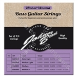 Johnny Brook Nickel Wound Bass Guitar Strings Set of 4 - Gauge Medium Light