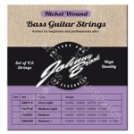 Johnny Brook Nickel Wound Bass Guitar Strings Set of 4 - Gauge Medium