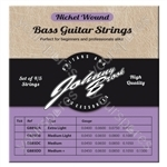Johnny Brook Nickel Wound Bass Guitar Strings for 5 String Bass Guitars  Set of 5