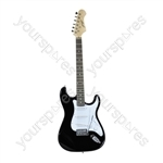 Johnny Brook Black Standard Electric Guitar