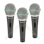 Samson Q6 Switched Dynamic Handheld Microphone - Packing Pack of 3
