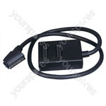 Black 2 Way Scart Splitter