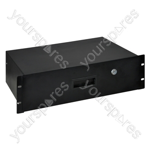 3U Lockable Steel Rack Drawer with Fixings