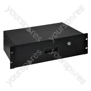 3U Lockable Steel Rack Drawer with Fixings