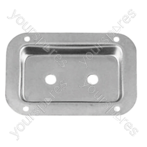 Zinc connector dish for jack socket with fixing screws