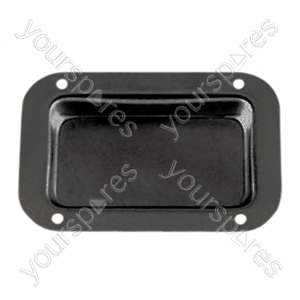 Zinc plain connector dish with fixing screws