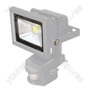 Grey 10 W LED Flood Light with PIR sensor and PIR Override Facility