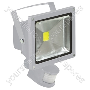 Grey 20 W LED Flood Light with PIR sensor and PIR Override Facility