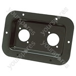 Punched Metal Connector Dish for 2x XLR Sockets - Colour Black