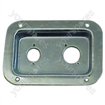 Punched Metal Connector Dish for 2x XLR Sockets - Colour Nickel