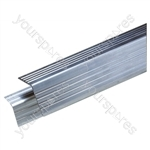 Aluminium Right Angle Edging Extrusion, Priced Per Metre - Material Thickness (mm) 1.5