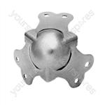 Zinc Ball Corners With Fixing Screws Set of 4