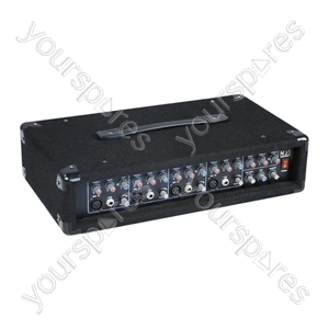 Mono 4 Channel Mixer Amplifier with Digital Reverb 100+100W