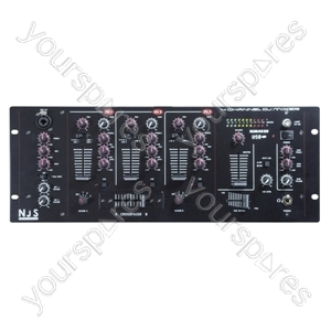 NJS NJM402U 4 Channel DJ Mixer with USB Input