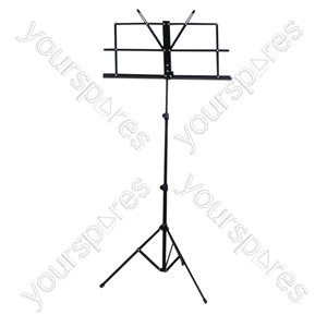 Folding Sheet Music Stand - Colour Black