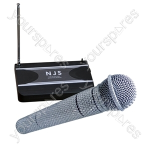 NJS VHF Handheld Radio Microphone System With Crystal Effect - Frequency MHz 174.1