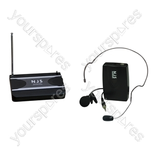 New Jersey Sound 174.5 MHz VHF Tie Clip Radio Microphone System