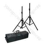 NJS 35mm Adjustable Aluminium PA Speaker Stand Kit (2)