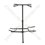 Twin Guitar Floor Stand for 2 Electric or Acoustic Guitars