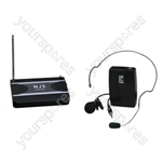New Jersey Sound Corp 174.1 MHz VHF Tie Clip Radio Microphone System