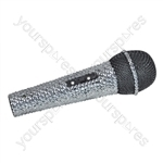 NJS Silver Crystal Effect Karaoke Microphone