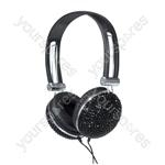 Stereo Headphones Black Crystal Effect