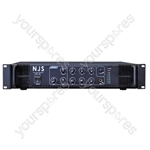 NJS PA2000 Series 100 V PA Mixer Amplifier - Power RMS (W) 120