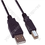 USB Male A to USB Male B Lead - Length (m) 3